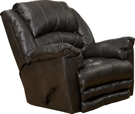catnapper leather recliners filmore chaise rocker recliner in godiva leather by