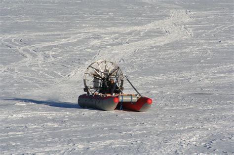 fan boat on ice airboat west