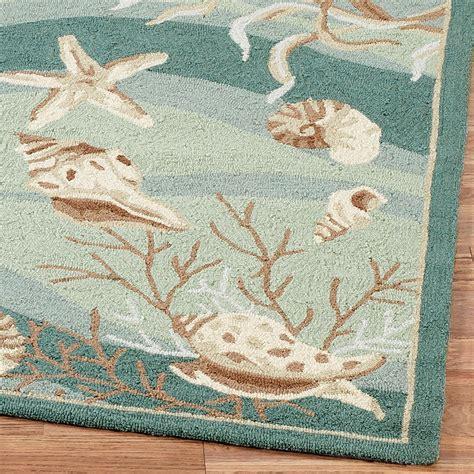 Seashell Area Rugs Seashells Hooked Area Rugs