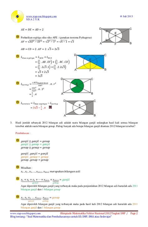 Pena Emas Ons Fisika Sma soal olimpiade matematika sma tahun 2013
