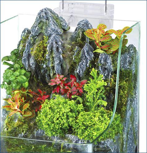 aqua terrarium designs penn plax aqua terrarium planting tank with aquarium for fish waterfall led light