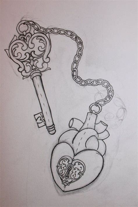 easy key tattoo lock and key for kristina pt1 by misstell on deviantart
