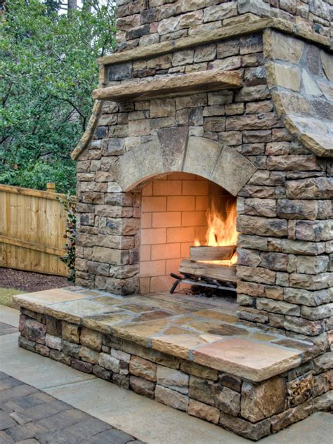 backyard fireplace ideas outdoor fireplace ideas design ideas for outdoor fireplaces hgtv
