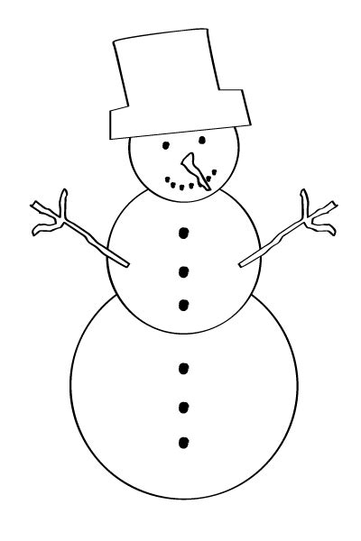 snowman arms template printable image gallery snowman outline