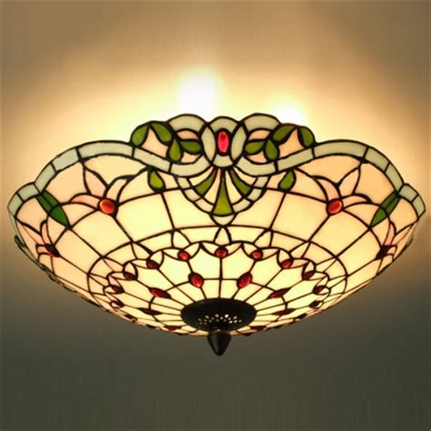 Fashion Style Multi Light Pendant Flush Mount Ceiling Stained Glass Flush Mount Ceiling Light