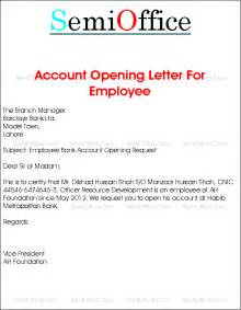 Bank Letter Account Opening Bank Account Opening Letter For Company Employee