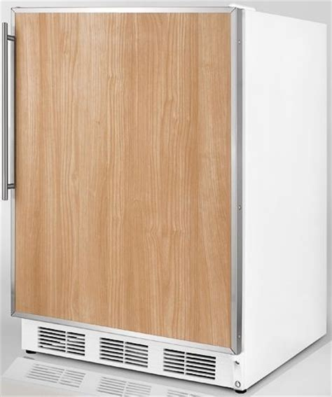 refrigerators that take cabinet panels summit ff7fr commercial undercounter all refrigerator with