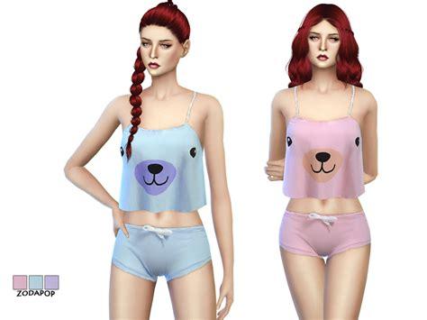 sims 4 pajamas zodapop s s4 fashion set 2