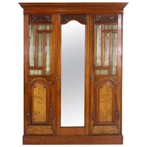 victorian armoire wardrobe victorian walnut 3 door wardrobe cupboard armoire with