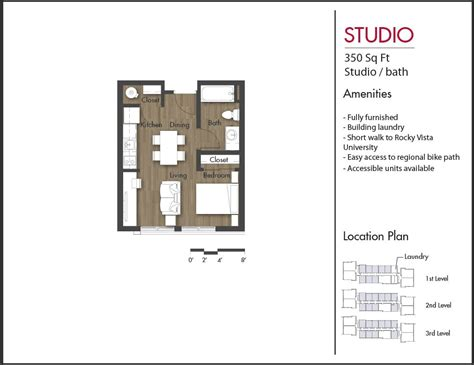 studio floor plan floor plans crimson cliffs student residences