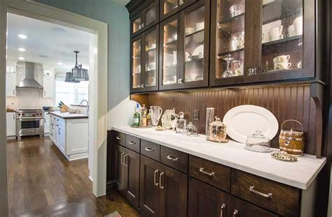 Breakfast Pantry by Updated Farmhouse Kitchen Integrates Butler S Pantry And