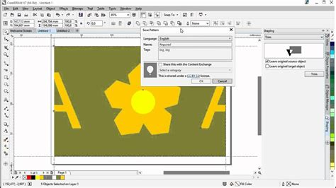 create pattern fill coreldraw creating rapports and pattern fills using coreldraw 174 and