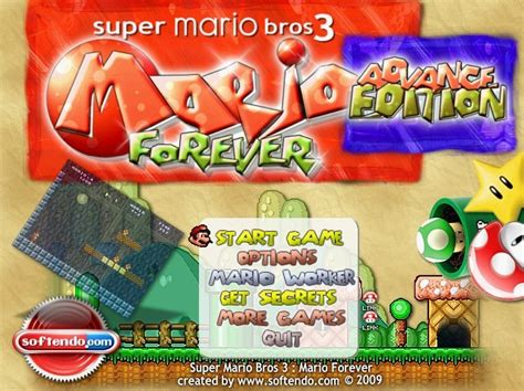 super mario forever full version free download super mario 3 mario forever advance freeware version 4 4