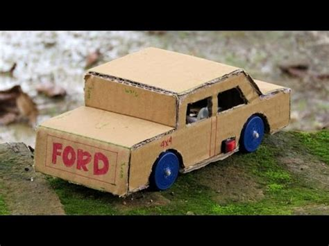 membuat mobil dari kardus bekas ide kreatif membuat mobil ford mainan dari kardus bekas
