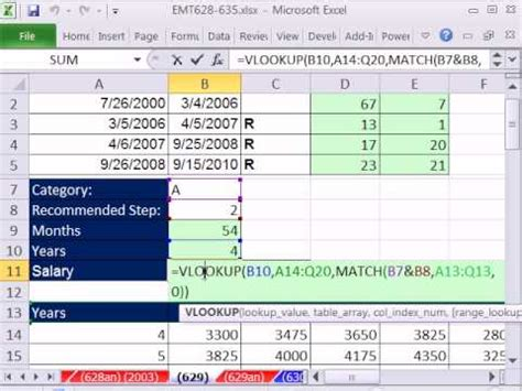 excel magic trick 629: hr salary calculation based on