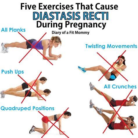 exercises   diastasis recti  pregnancy diary   fit mommy