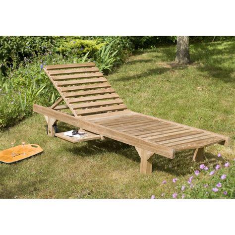 transat jardin bain de soleil transat jardin en teck massif 205cm summer pier import