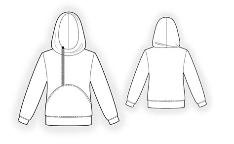 sweatshirt pattern free hoodie sewing pattern 4341 made to measure sewing