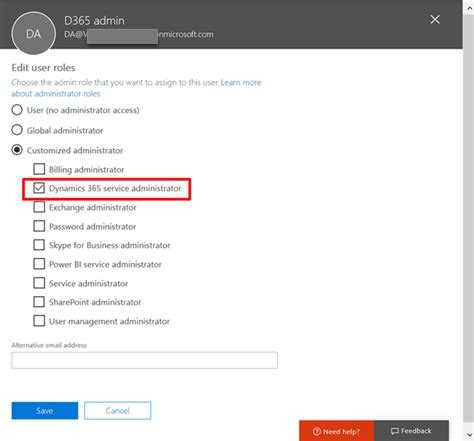 Office 365 Portal Administrator Roles Dynamics 365 Service Admin Microsoft Dynamics Crm