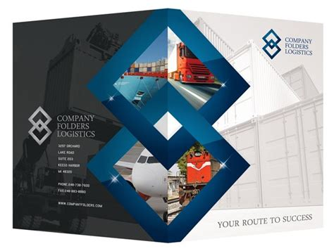 corporate folder design template psd blue diamond logistics