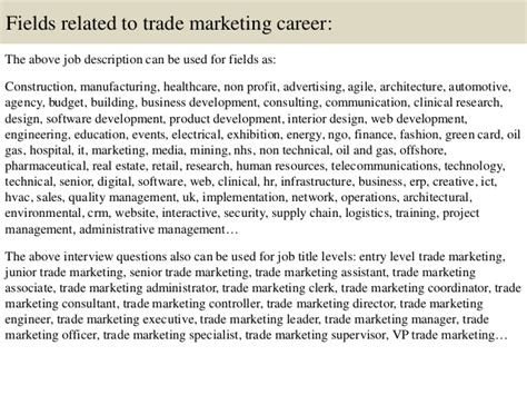 top  trade marketing interview questions  answers