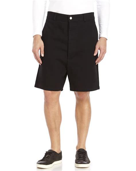 Wide Leg Shorts ami black wide leg denim shorts in black for lyst