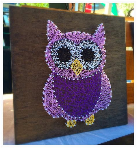 string art pattern owl made to order owl string art nursery decor nursery string