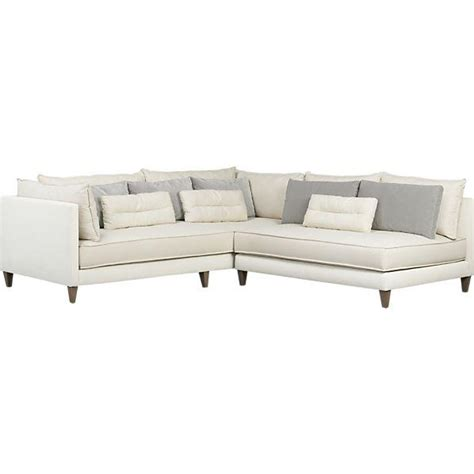 sectional crate and barrel asana 2 piece sectional sofa crate and barrel