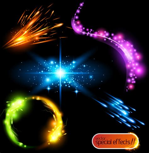 photoshop tutorial vector effect colored glowing light effects vector free vector in adobe