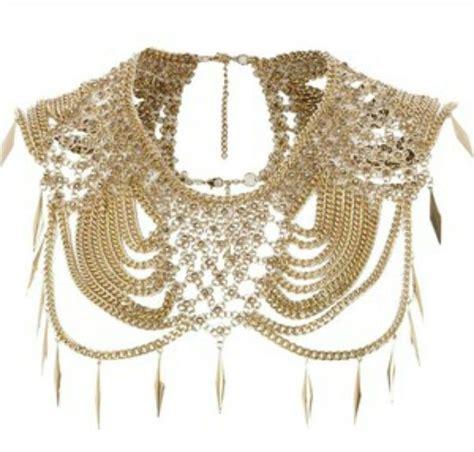 cadenas de oro raras cape necklace cleopatra pinterest joyas bisuteria y
