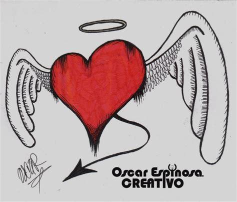imagenes a lapiz con frases dibujos de corazones con alas para dibujar y colorear