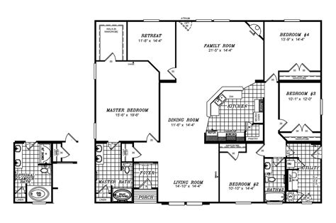 double wide floor plans nc 4 bedroom mobile homes 25 wonderful double wide floor