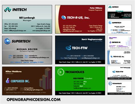 free business cards templates downloads free business cards templates opengraphicdesign
