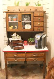 Coffee Bar Cabinet Transform An Antique Cabinet Into A Coffee Station Hometalk