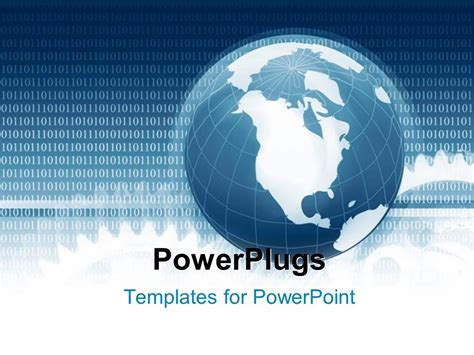 powerpoint template global communication depiction with