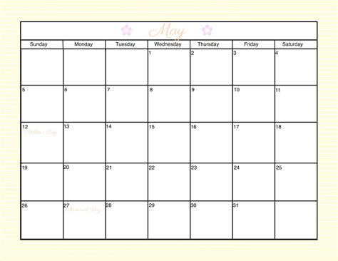 customizable monthly calendar templates 2016 calendar