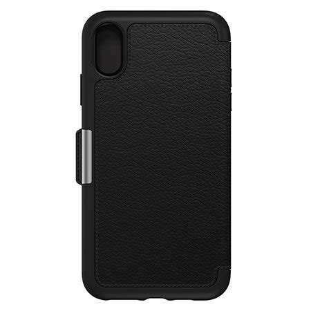 otterbox strada folio iphone xr leather wallet case