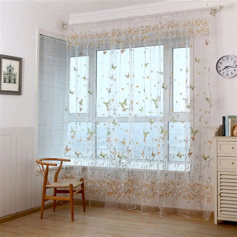 butterfly bedroom curtains new arrival butterfly curtain yarn custom made finished