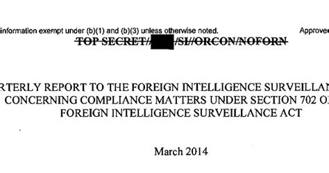 section 702 of the foreign intelligence surveillance act electrospaces net do nsa compliance reports point to an