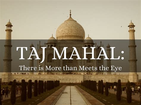 Taj Mahal Optical Illusion By Todoalex Ppt On Taj Mahal