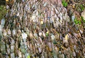 Flowers Allentown - over 600 bottles dug from a brick lined privy