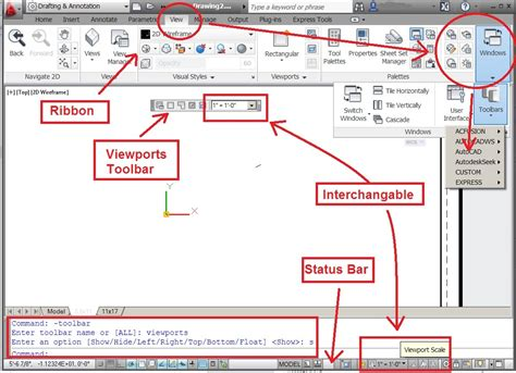 autocad layout viewport scale where is the quot viewports quot toolabar in acad 2012 autodesk