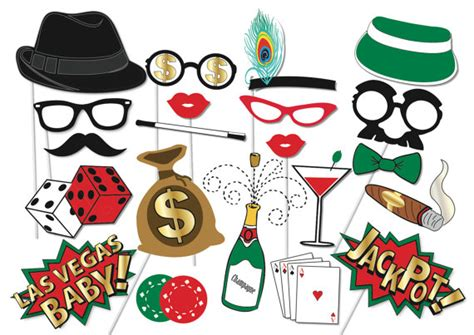 free printable casino photo booth props poker party props set 22 piece printable poker night