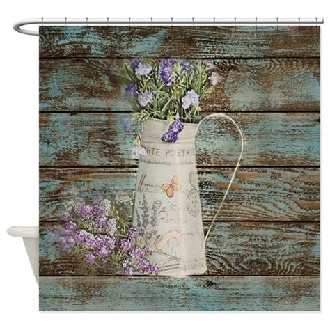 rustic bathroom shower curtains rustic lavender western country shower curtain by listing