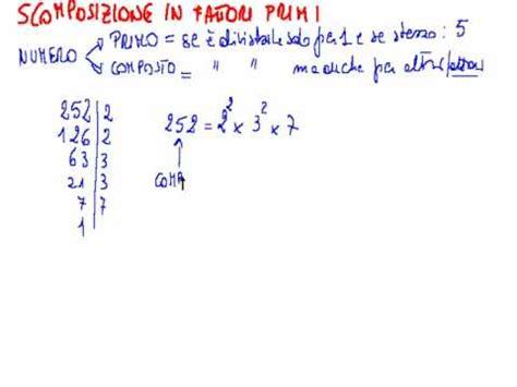 tavole numeriche scomposizione in fattori primi scomposizione in fattori primi flv