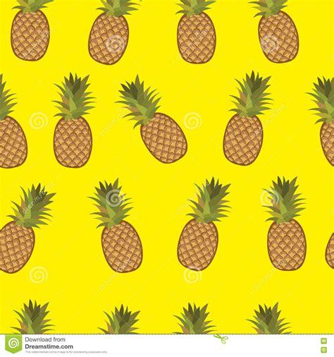 Pineapple Yellow pineapple yellow background pattern stock vector image