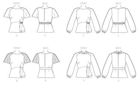 raglan pattern shape butterick 6375 misses raglan sleeve blouses with