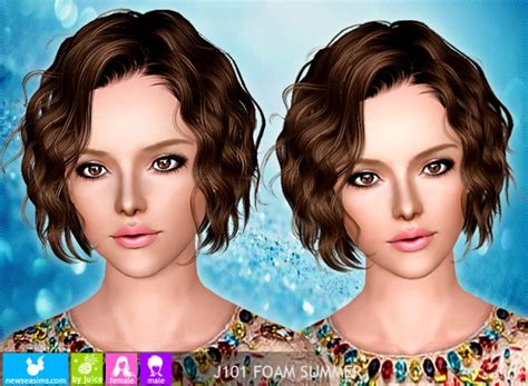 sims 2 short curled bob curly bob hairstyle 116 naima by newsea sims 3 hairs