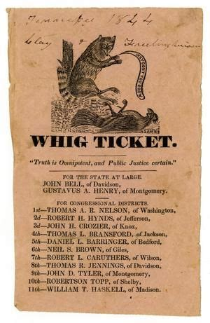 whig party. whig ticket. 1844. | the color of history