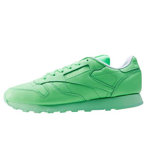reebok classic leather pastels womens trainers in light green